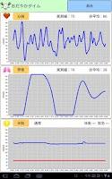 Screenshot of おだやかタイム 波形表示アプリ