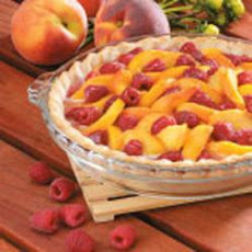 Raspberry Peach Pie