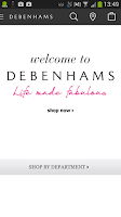 Screenshot of Debenhams