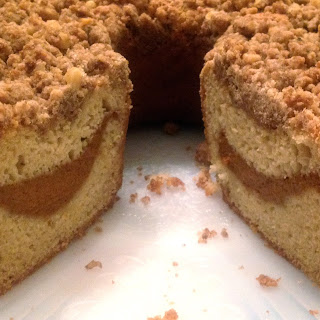 GLUTEN-FREE COFFEE CAKE with PUMPKIN FILLING and STREUSEL CRUMB TOPPING