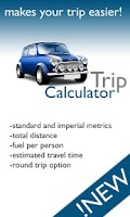 Screenshot of Trip calculator