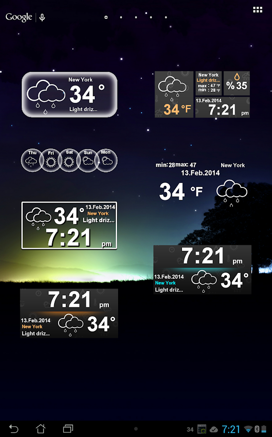 Weather Clock Screenshot 9