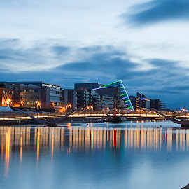 A view of the Liffey by Les Broad - Landscapes Travel ( dublin, cityscape, landscape, river )