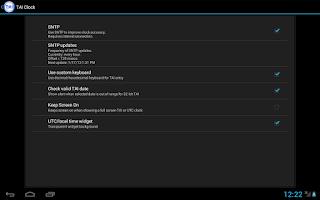 Screenshot of TAI Clock and Converter