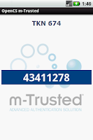 Screenshot of m-Trusted