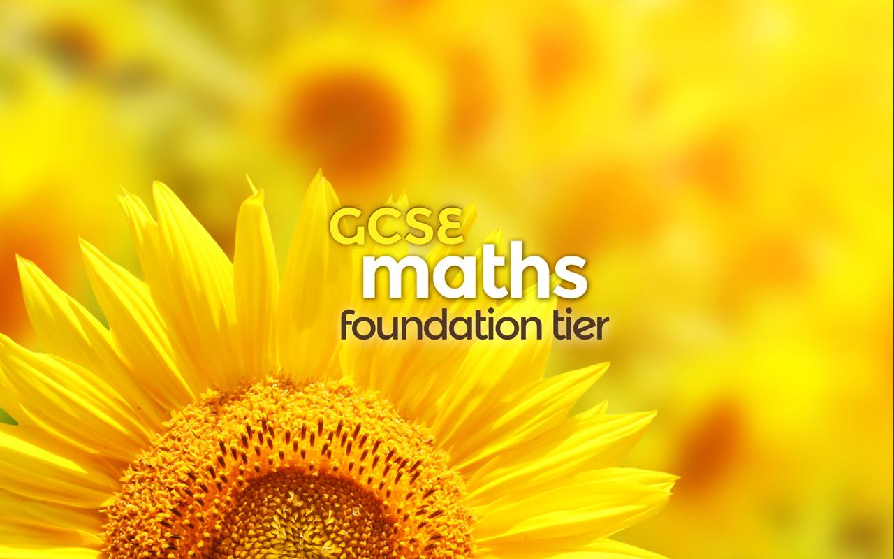 GCSE Maths Foundation (2016) Screenshot