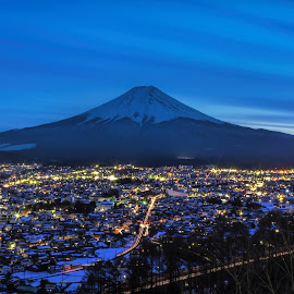 mt. fuji at night by Jronn Go - Landscapes Mountains & Hills