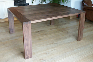 Contemporay Dining Table in American Black Walnut