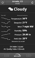 Screenshot of My-Cast Weather