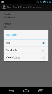 DashClock Contact Extension Screenshot