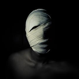 - Revenge - by Bassam El Oraby - People Portraits of Men ( revenge, hate, black and white, redeye, hell, kill, dark background, devil, blackheart, dark, darkness, evil, dark-side )