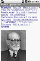 Screenshot of Works of Sigmund Freud