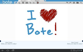 Screenshot of Bote Notes