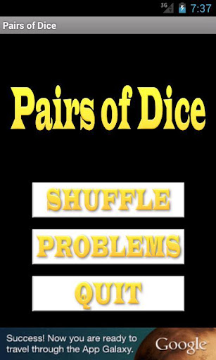 Pairs of Dice