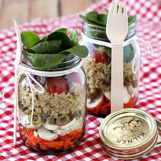 Layered Salad In A Jar