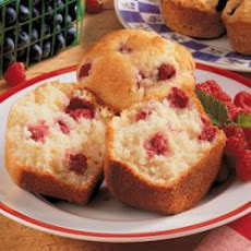 Lemon Raspberry Jumbo Muffins