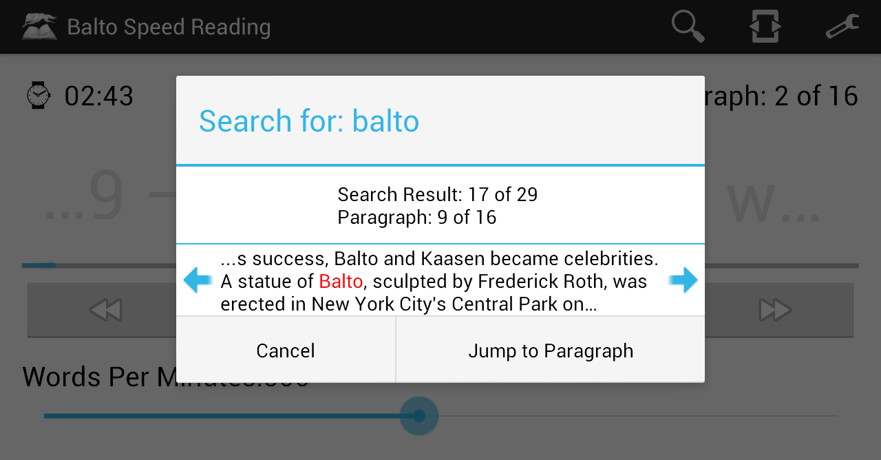 Balto Speed Reading Screenshot 6
