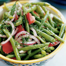 Marinated Green Beans and Tomatoes with Dill