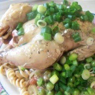 Creamy Pheasant and Noodle