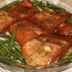 Cracked Pepper Salmon and Roasted Green Beans...