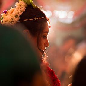 Bride by Sudheer Hegde - Wedding Bride ( sigma, d800, wedding, 85mm, india, bride, nikon, bokeh, light, photography, colours )