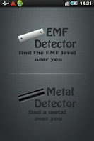 Screenshot of EMF Detector & Metal Detector