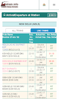 Screenshot of Indian Railways @etrain.info