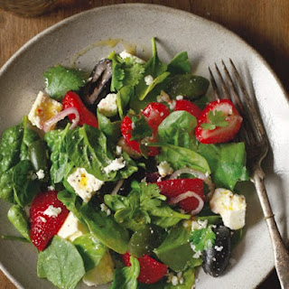 Pickled Feta With Cerignola Olives And Strawberries