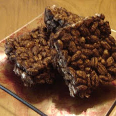 Healthier Chocolate Puffed Wheat Squares