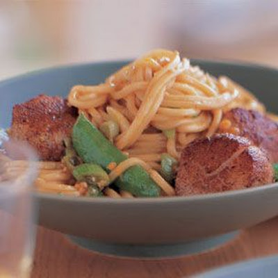 Five-Spice Scallops with Noodles