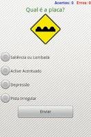 Screenshot of Placas de Trânsito Quiz
