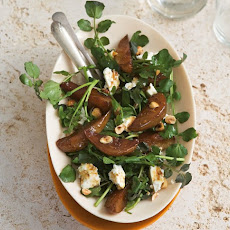 Roasted Pear, Feta, Watercress And Hazelnut Salad Recipe