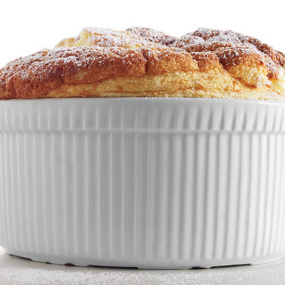 Tangerine Soufflé with Citrus Coulis