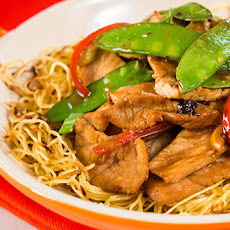 Pork Pan-Fried Noodles