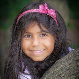 My niece Tara :) by Marko Pletikosa - Babies & Children Child Portraits ( face, nature, chil, outdoors, children, cute, smile, portrait )