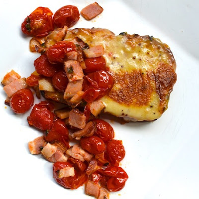 Welsh Rarebit and Bacon-Roasted Tomatoes on Cheddar Beer Bread