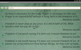 Screenshot of Gandhi Quotes