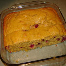 Moist Pumpkin Cranberry Cornbread