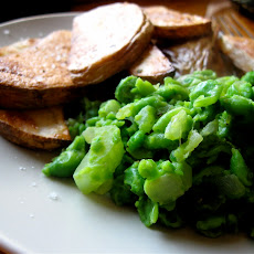 Mushy Peas With Oven Baked Chips