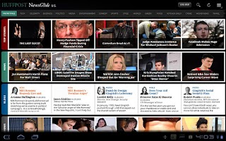 Screenshot of Huffington Post (Tablet)