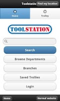Screenshot of Toolstation Mobile