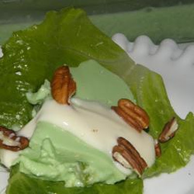 Aunt Mabel's Molded Avocado Salad with Toasted Pecans