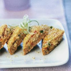 Sesame Prawn And Crab Toasts