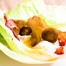 Bacon, Poached Egg, & Jalapeno Lettuce Wraps