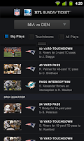 Screenshot of NFL Sunday Ticket
