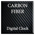 Carbon Fiber Digital Clock icon
