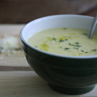 Cauliflower Soup with Sharp Cheddar and Thyme