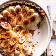 Banana Cream Pie with Whole Grain Chocolate Crust