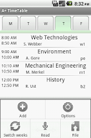 Screenshot of A+ Timetable