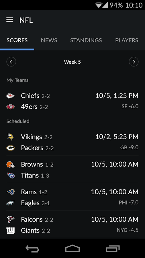 Yahoo Sports Screenshot 7